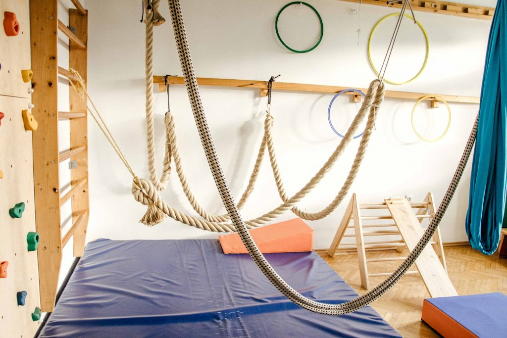 Der Bewegungsraum lässt jedes Kinderherz höher schlagen.